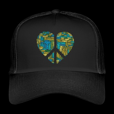 Peace! A heart with the peace sign - Trucker Cap