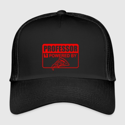 professor powered by pizza - Trucker Cap