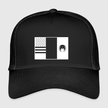 3flags wite - Trucker Cap