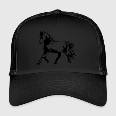 Proud, gathered horse in trot - Trucker Cap