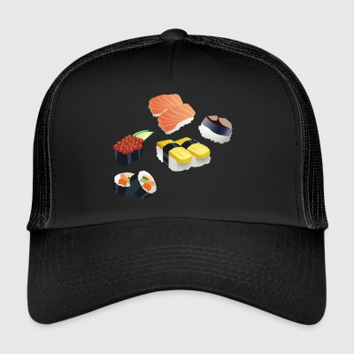 sushi reis rice chopsticks food essen japan61 - Trucker Cap