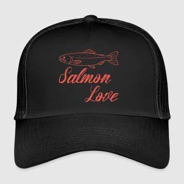 Fishing - Fishing - Salmon - Gift - Trucker Cap