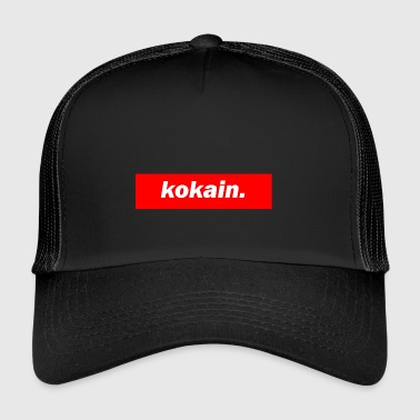 techno mischpult red bass bpm kokain - Trucker Cap
