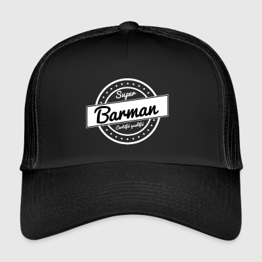 Super barman - blanc - Trucker Cap