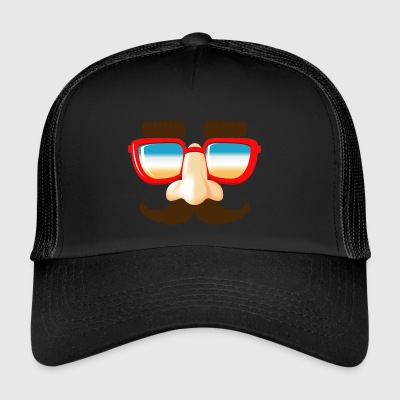 stuffing and catches mustache nose glasses - Trucker Cap