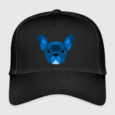 Low Poly Frenchie blue - Trucker Cap