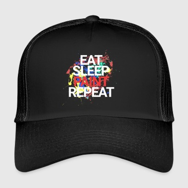 Eat Sleep Paint Repeat - Trucker Cap