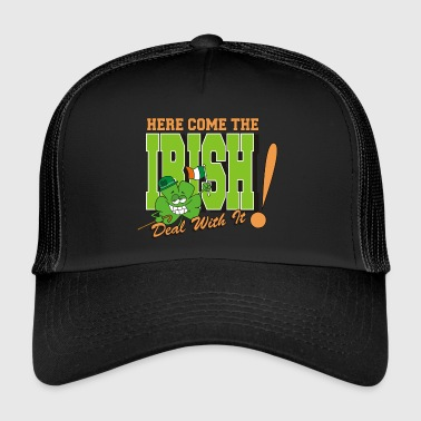 Irish Here Come The Irish Funny - Trucker Cap