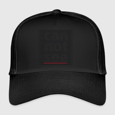 Can Not See optical effect on a pixelated matrix - Trucker Cap