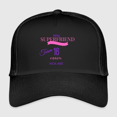 super transparent friend - Trucker Cap