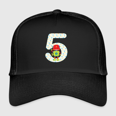 Birthdaynumber 5 agitant Robot - Trucker Cap