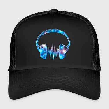 Kopfhörer, headphones, galaxy, Puls, Frequenz, Fun - Trucker Cap