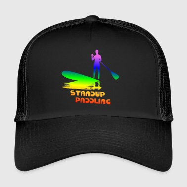 Standup paddling, SUP, Paddle Paddleboard rainbow - Trucker Cap