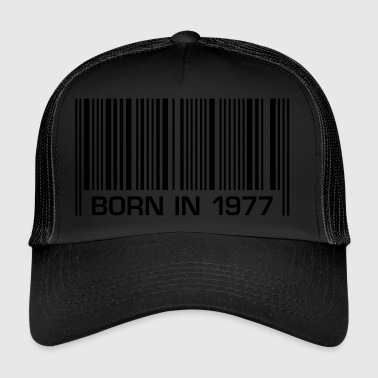 born barcode in 1977 40th birthday 40th birthday - Trucker Cap