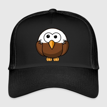 Eagle with bald comic style - Trucker Cap