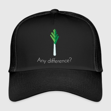 Lauch: Any difference? [White Edition] - Trucker Cap