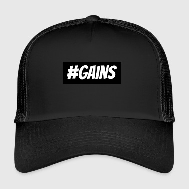 Gain's hashtag | gainz - Trucker Cap
