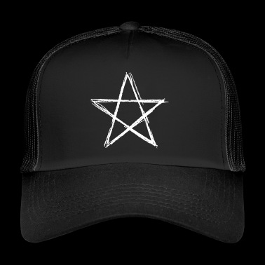 Pentagram white - Trucker Cap