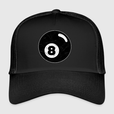 Billiard billiard ball black eight eight vintage - Trucker Cap