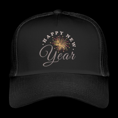 Happy New Year - Feuerwerk - Trucker Cap