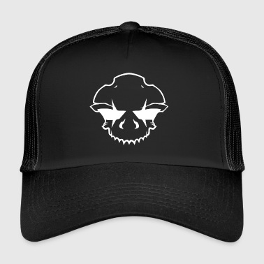 BAD_SKULL_2.0_WHITE - Trucker Cap