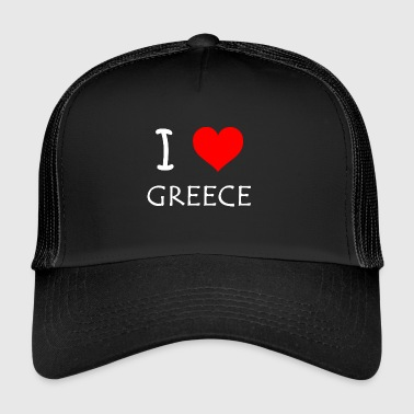 I Love Greece - Trucker Cap