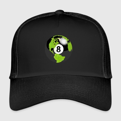 8-ball planet earth globe earth globe - Trucker Cap