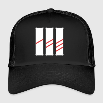 Road sign 3 signe - Trucker Cap