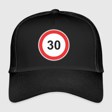 Road sign 30 - Trucker Cap