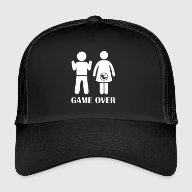 GAME OVER Pregnant - Trucker Cap