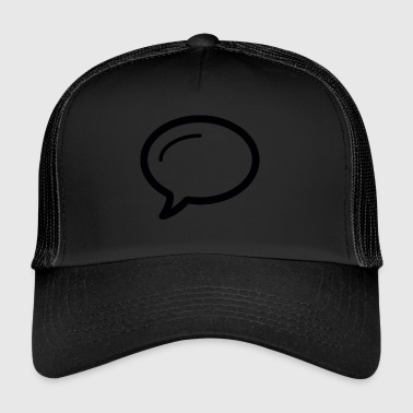 Linecons speech bubble - Trucker Cap