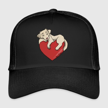 White Golden Retriever - Trucker Cap