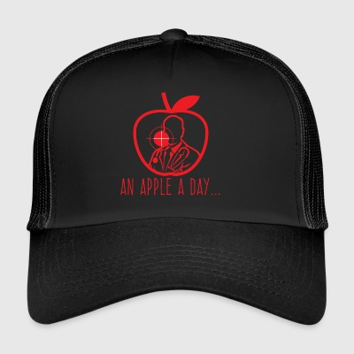 Doctor / Health Practitioner: An Apple A Day Keeps The Doctor - Trucker Cap