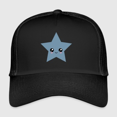 Star Kawaii, Gesicht, Manga, Comic, Comics, Anime, - Trucker Cap