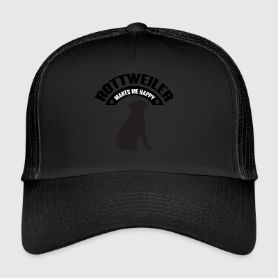 Dog / Rottweiler: Rottweiler Makes Me Happy - Trucker Cap
