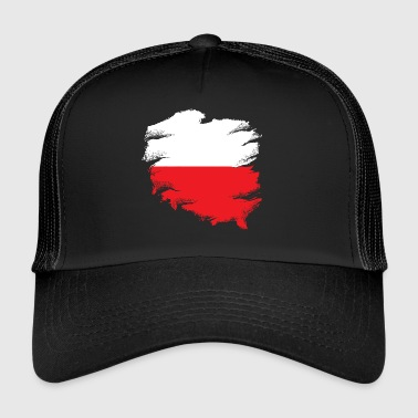 Poolse vlag - Trucker Cap