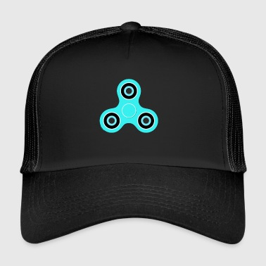 Fidget Spinner Light blue - Trucker Cap