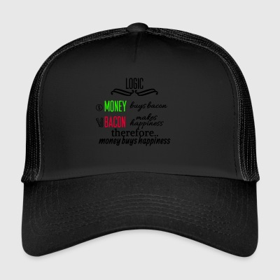 Money really is able to buy happiness - Trucker Cap
