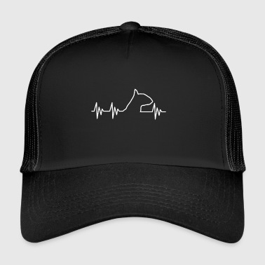 Love Bullterrier Terrier Hund Dog EKG - Trucker Cap