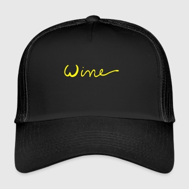 Wine art logo GEEL - Trucker Cap