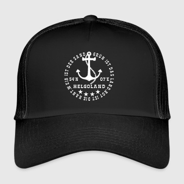 HelgolandLogo_Anker_white_hollow - Trucker Cap
