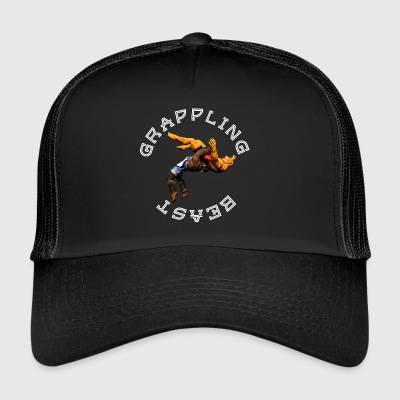 Grappling Beast (abe vs jaguar) - Trucker Cap