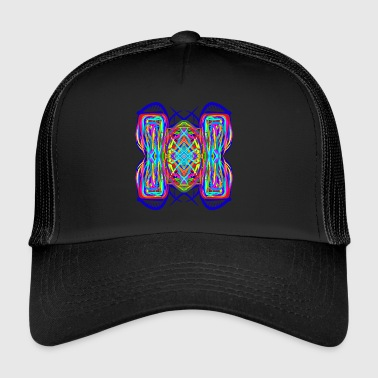 turtle tortoise trippy abstract psychedelic - Trucker Cap