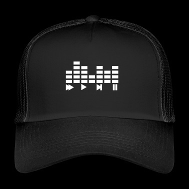 Musik Music Equalizer Stop Play Icon Beat - Trucker Cap