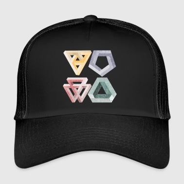 optical illusions - Trucker Cap