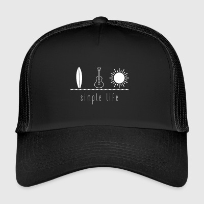 Simple Life Ukulele - Trucker Cap