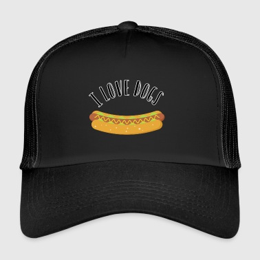 I love dogs. Hot Dogs ^^ - Trucker Cap