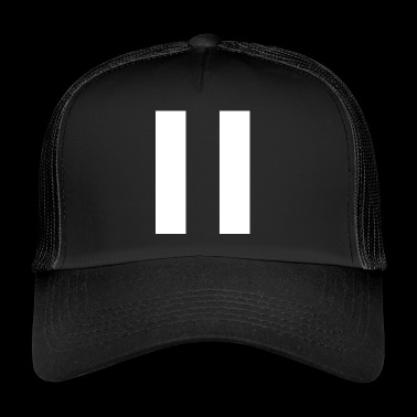 Stripes White - Trucker Cap