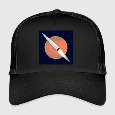 Mars W/Background - Trucker Cap
