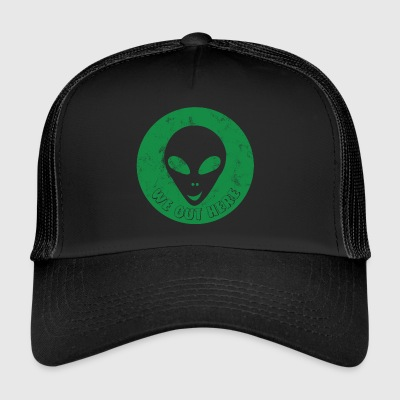Alien / Area 51 / UFO: Noi Out Here - testa Alien - Trucker Cap